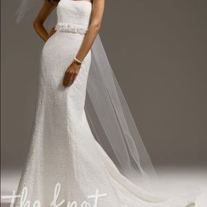 NWT Strapless Wedding dress. Soft ivory white.